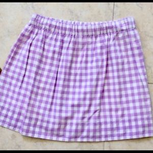 J crew XS purple Gingham skirt with pockets